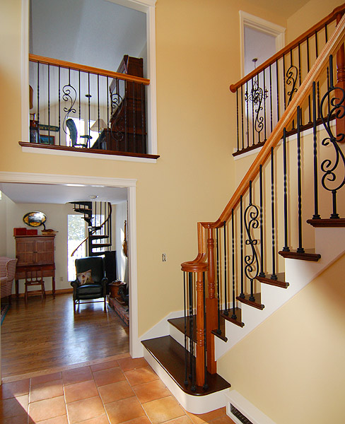Wrought Iron Staircase: Wrought Iron Baluster Staircase